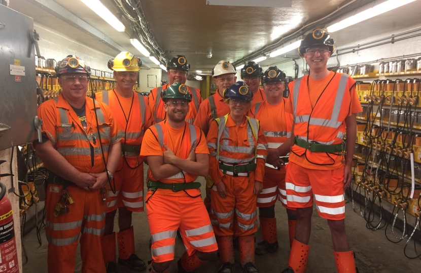 Simon at Boulby Potash Mine