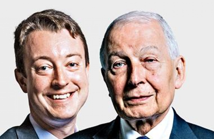 Simon with Frank Field MP