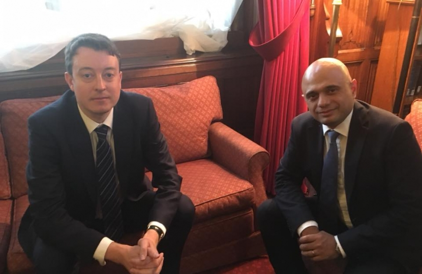 Simon meeting Sajid Javid
