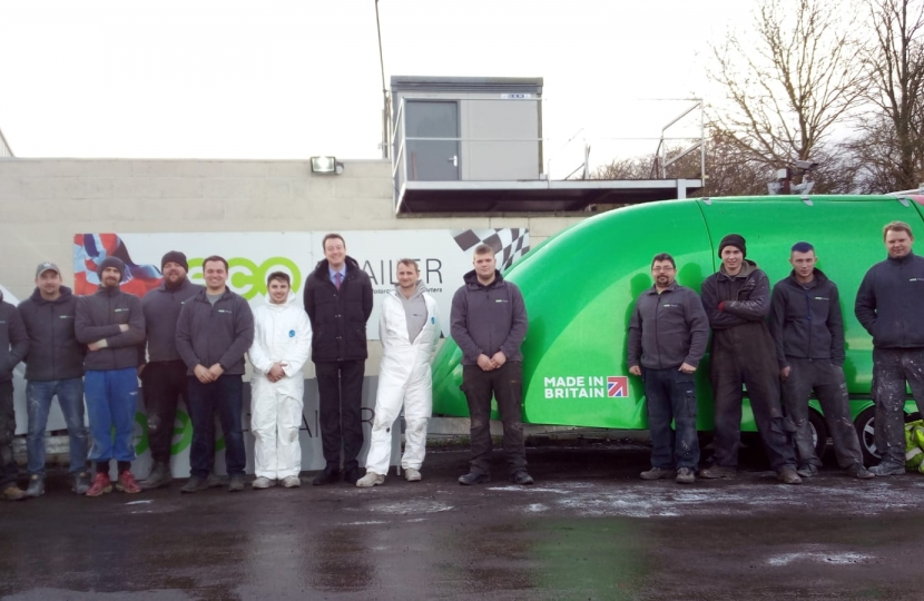 Simon with the Eco-Trailer UK Team and one of their trailers