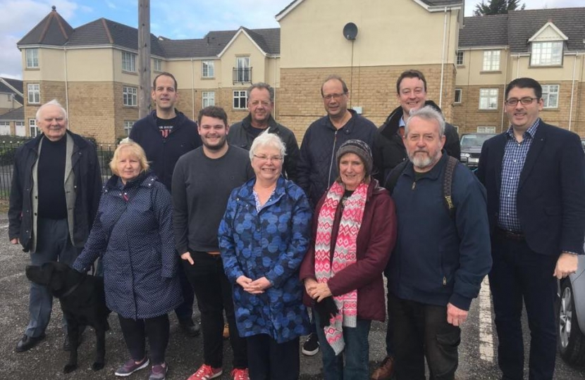 The team campaigning in Marton