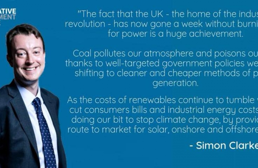 Simon Clarke - coal power quote