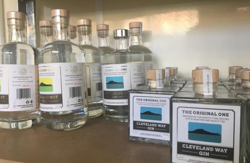 Local gins on display