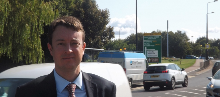 Simon is workingto secure investment in transport infrastructure