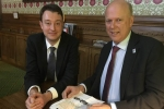 Simon meeting Chris Grayling
