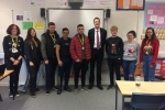 Simon with Nunthorpe Academy 6th Form Politics Students