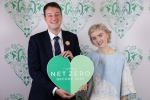 Simon supporting Net Zero with Lily Cole