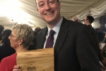 Simon with his Green Heart Hero Award