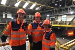 Simon visiting British Steel Skinningrove