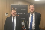 Simon with SoS Greg Clark at the British Steel taskforce meeting