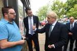 Boris visiting Guisborough earlier in the month