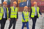 Ben, Simon and Liz Truss taking a tour of PD Ports